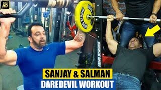 Sanjay Dutt & Salman Khan Gym Body Building Workout After Release From Jail