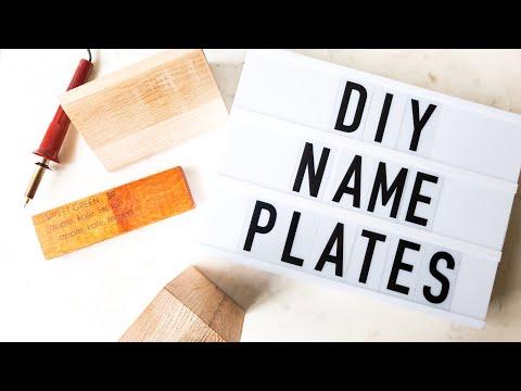 DIY WOOD SIGN (name plates)