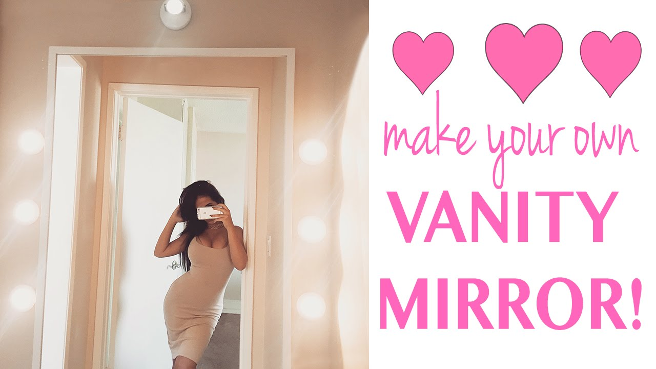 vanity mirror.  D I Y WALL VANITY MIRROR YouTube