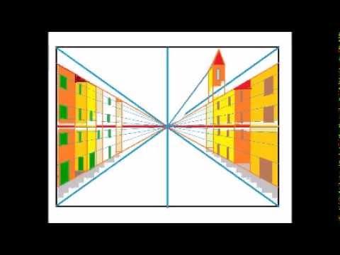 Breve video sulle basi della prospettiva centrale youtube for Disegni di case in prospettiva