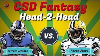 Fantasy Football 2019 - Head 2 Head Kerryon Johnson vs. Aaron Jones