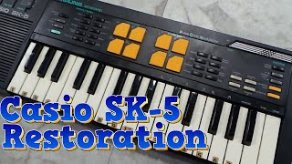 Casio SK-5 Keyboard Restoration, smoke smell removal.