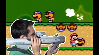Super Scope on a Real Super Mario World Cartridge