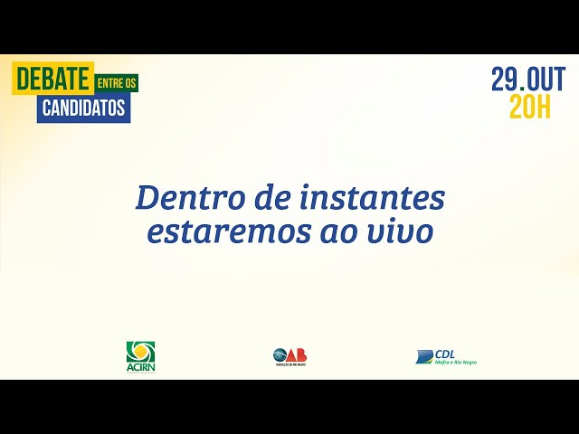 #Eleições2020 Assista ao vivo o debate entre os candidatos a prefeito de Rio Negro-PR.