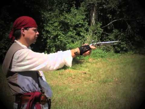 Firing a Flintlock Pistol