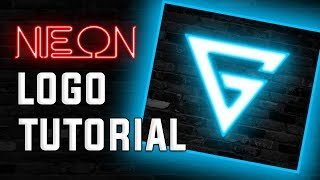 Photoshop Tutorial: Learn How to make Neon Gaming Logo | Galligator