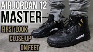 must cop air jordan 12 master close look on feet