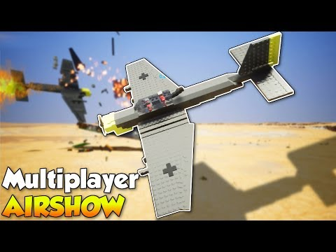 AIRSHOW GONE WRONG! Airplane stunts & Fails - Brick Rigs Multiplayer Gameplay