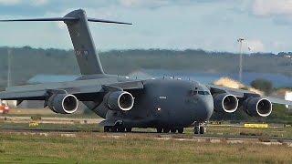 RARE Nato C-17A GlobeMaster landing at Palma De Mallorca Airport
