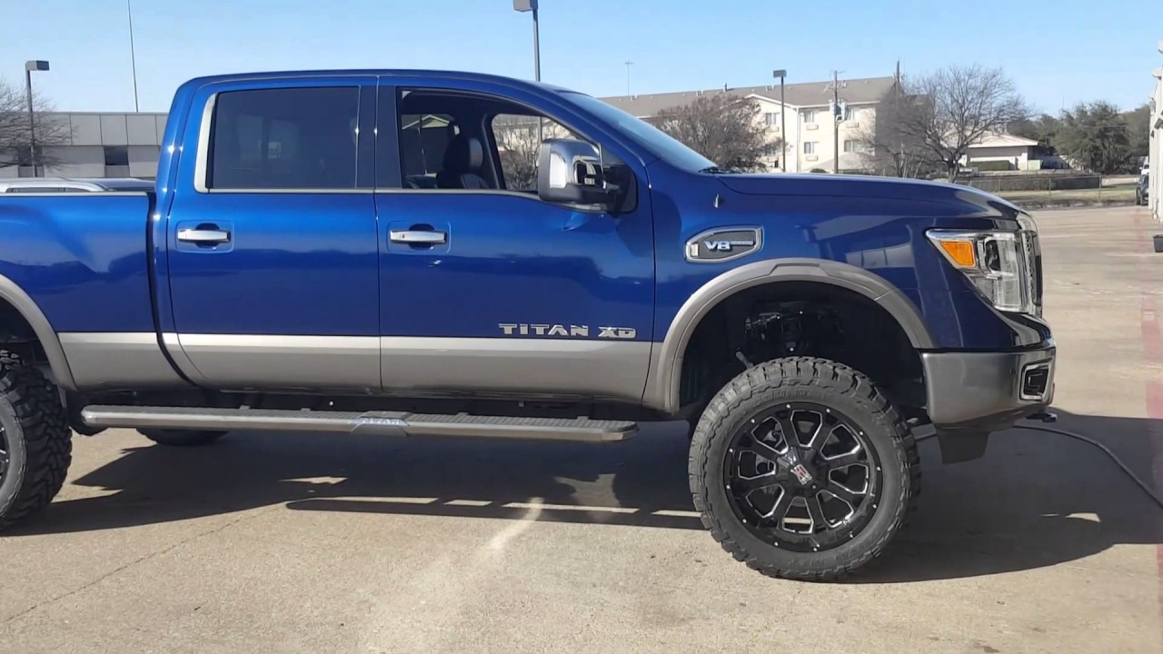 2016 nissan titan xd 6in susp lift 22in wheels mckinney plano dallas youtube. Black Bedroom Furniture Sets. Home Design Ideas