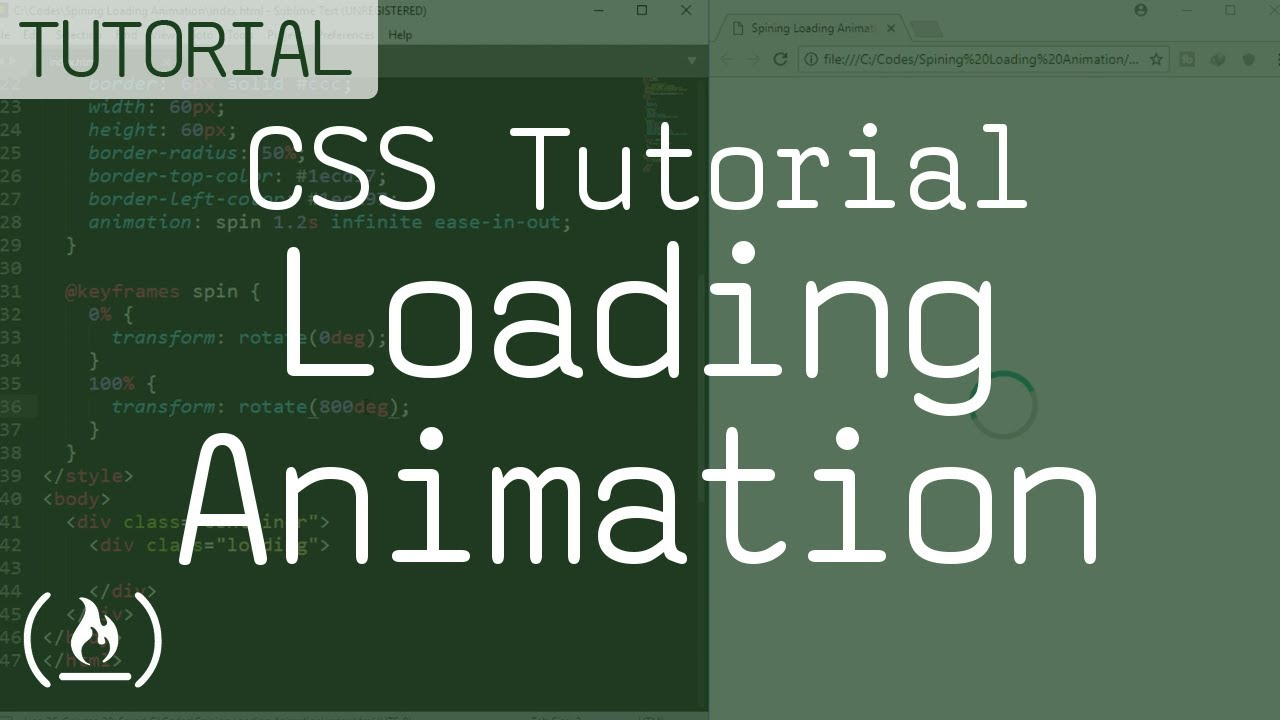 CSS Tutorial - Spinning Loading Animation