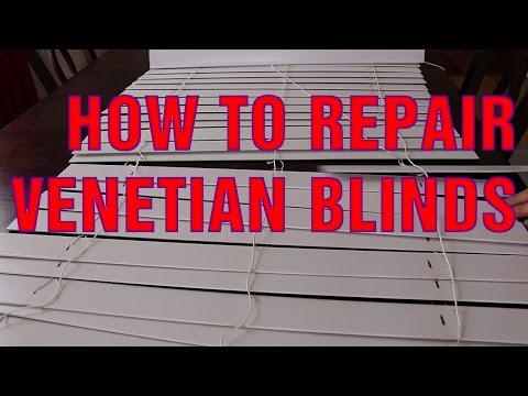 How To Repair Broken Slats on Venetian Blinds