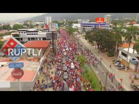 Honduras: Thousands flood San Pedro Sula streets as anti-Hernandez protests soar