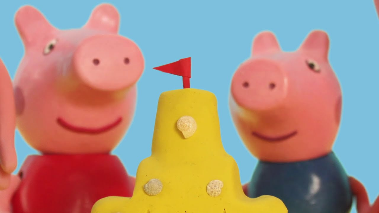 Peppa Pig Official Channel | Peppa Pig Stop Motion: Summer Beach Fun Time with Peppa Pig