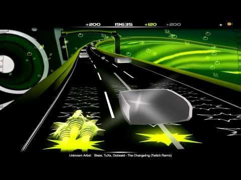 Ponytastic Audiosurf Let's Play: Blaze, TuXe, Ozzwald - The Changeling (Twitch Remix)