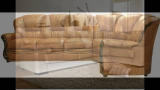 видео кожаный угловой диван для офиса