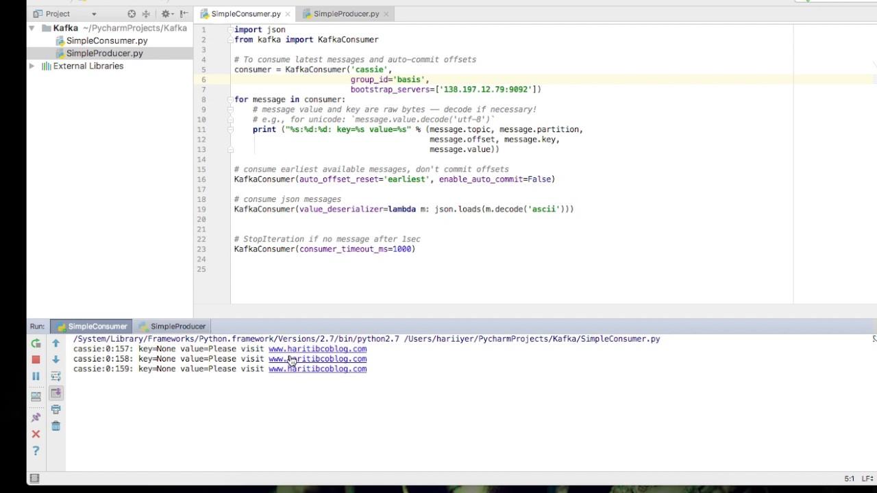 Apache Kafka Python Simple Producer Youtube