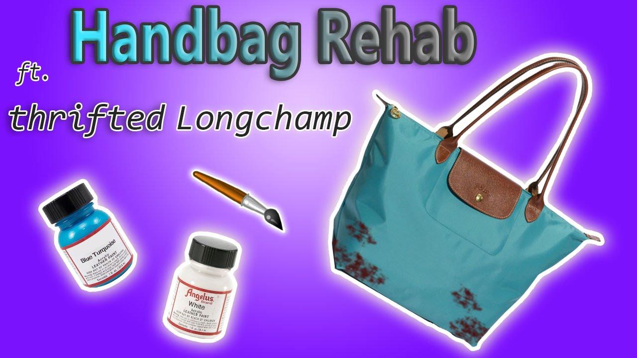 e38d2263c19c HANDBAG REHAB FT  5 THRITED LONGCHAMP TOTE - TEAR REPAIR - YouTube