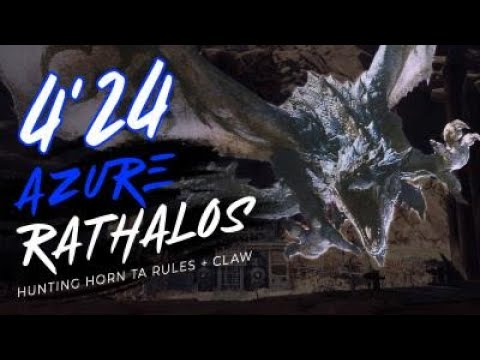 [MHW:IB] 4'24 Azure Rathalos - TA Wiki Rules Hunting Horn -