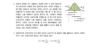 확률과 통계-3-17 모평균의 추정 (2)