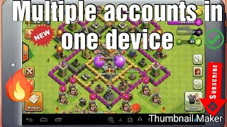 How to play multiple accounts in clash of clans if you have connected your phone with supercell id
