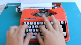 Typewriting - 1969 Hermes Rocket Typewriter