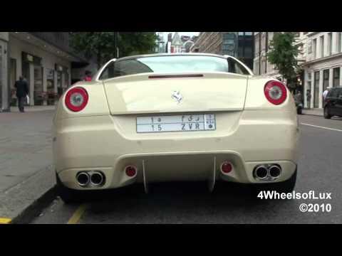 Cream White Ferrari 599 GTB Fiorano
