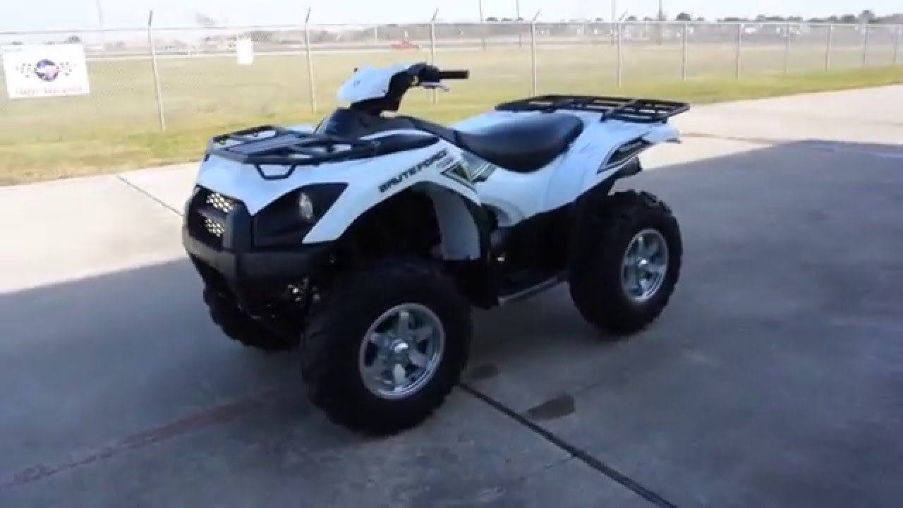 $9,999: 2016 kawasaki brute force 750 eps white overview and