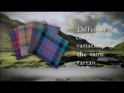 Different  color variations  of the  same tartan