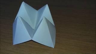 ORIGAMI SEMPLICI - INFERNO E PARADISO O INDOVINO - HOW TO MAKE A PAPER FORTUNE TALLER