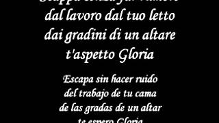 Gloria - Umberto Tozzi Italian Version Letra y Traduccion