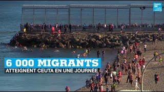 Espagne : près de 6 000 migrants atteignent Ceuta depuis le Maroc en une journée • FRANCE 24