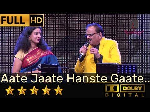 SP Balasubrahmanyam Sings Aate Jaate Hanste Gaate - आते जाते हँसते गाते From Maine Pyar Kiya (1989)