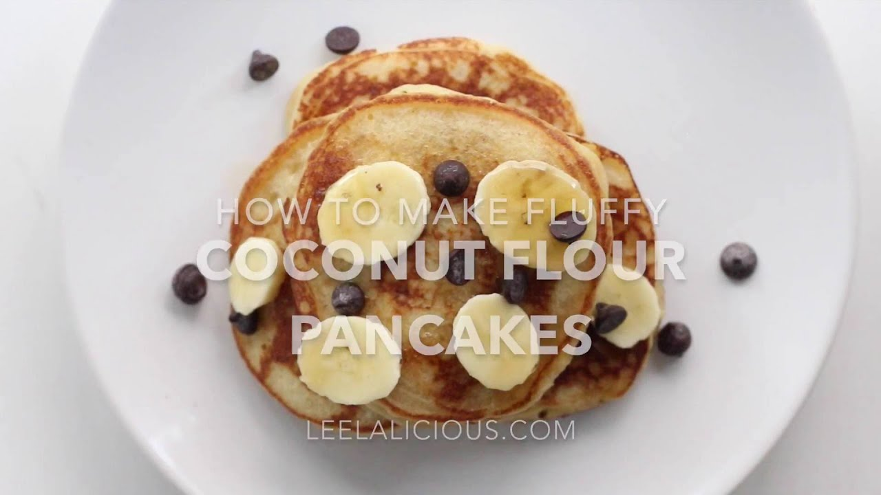 How to make fluffy coconut flour pancakes youtube how to make fluffy coconut flour pancakes ccuart Gallery