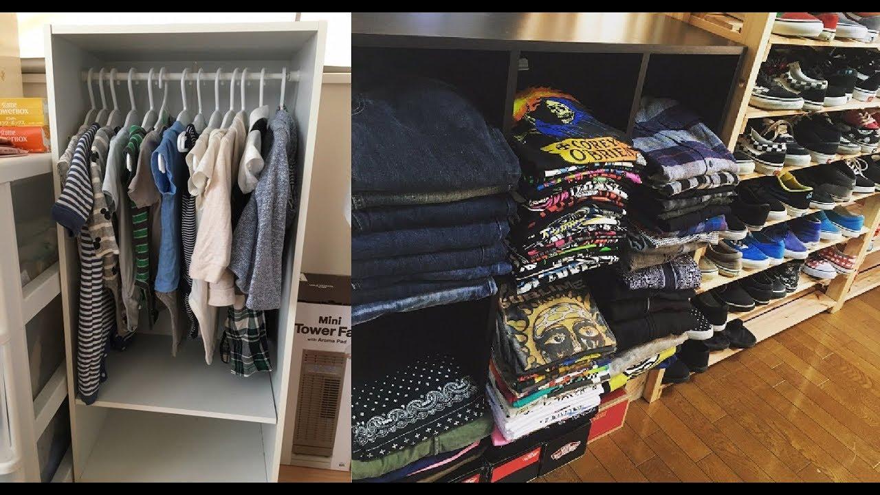 diy】100均の商品を使った洋服収納の手作りアイデア♡~homemade idea of