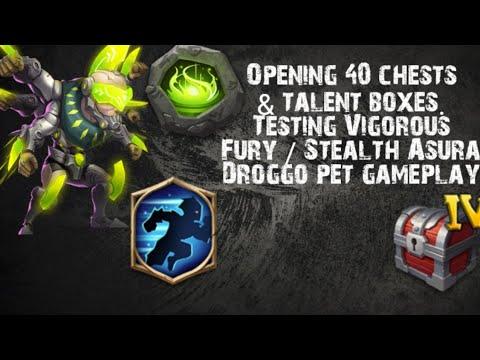 Castle Clash | Testing Asura 8/9 Vigorous Fury - 8/9 Stealth | Droggo Pet Gameplay