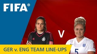 Germany v. England - Team Lineups EXCLUSIVE