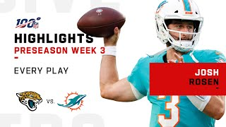 Every Josh Rosen Play vs. Jaguars | NFL 2019 Highlights