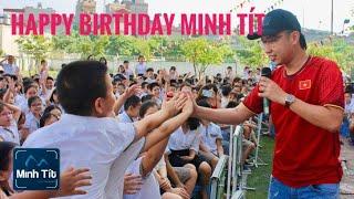 Anh 7 Lịch Lãm - Minh Tít được hàng ngàn học sinh và MC Công Tố chúc mừng sinh nhật