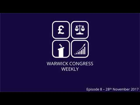 Christmas Competition! Warwick Congress Weekly Episode 9 - 5th December 2017