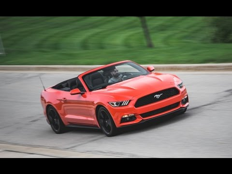 2015 ford mustang ecoboost automatic convertible review release date price features specs youtube. Black Bedroom Furniture Sets. Home Design Ideas