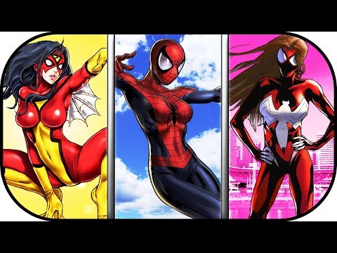 EVOLUTION of SPIDERWOMAN in movies cartoons TV 19752018 ultimate spider woman movie 2020