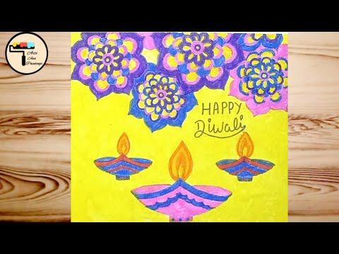 Easy Diwali Drawing How To Draw Diwali Drawing With Mandala Design Easy Diwali Diya Drawing Youtube