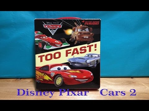 Disney Pixar Cars Francesco Lightning McQueen Finn - Cars 2 cool cars book