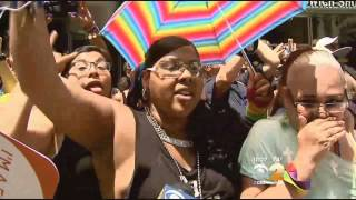 New Yorkers March From Midtown To The West Village In Gay Pride Parade