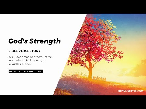 Bible Verses About God's Strength