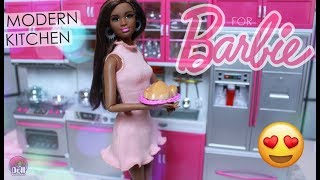 My Modern Kitchen for Barbie Playset REVIEW!