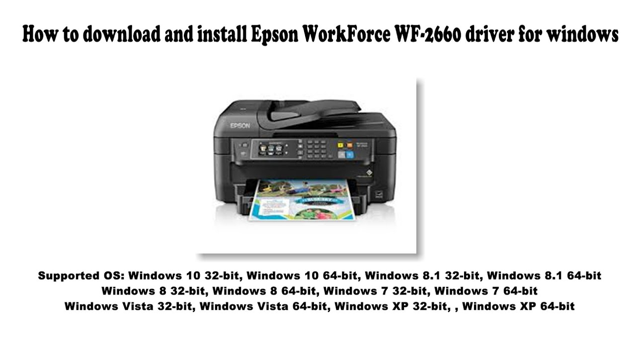 How to download and install Epson WorkForce WF 100 driver Windows 100, 100 10,  100, 10, Vista, XP