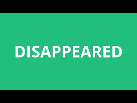 How To Pronounce Disappeared - Pronunciation Academy