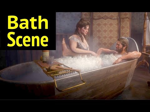 Bath Scene in Red Dead Redemption 2 (RDR2)